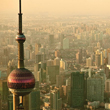 Looking over the city of Shangai.